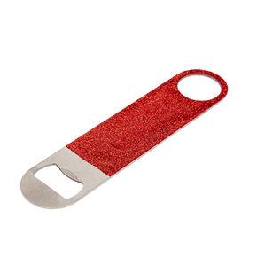 Red Glitter Bottle Opener,