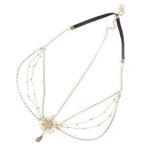 3-Way  Floral Medallion Headchain Headwrap,
