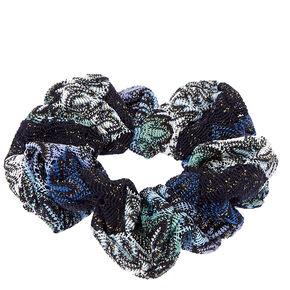 Blue Flame Twister Hair Scrunchie,