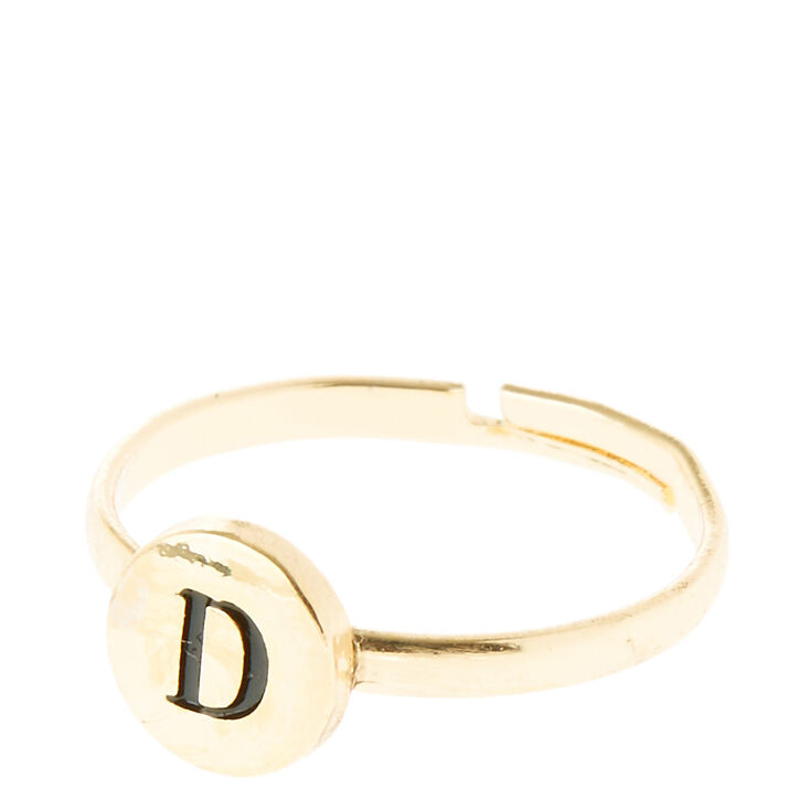 """""""D"""" Initial Letter Ring,"""