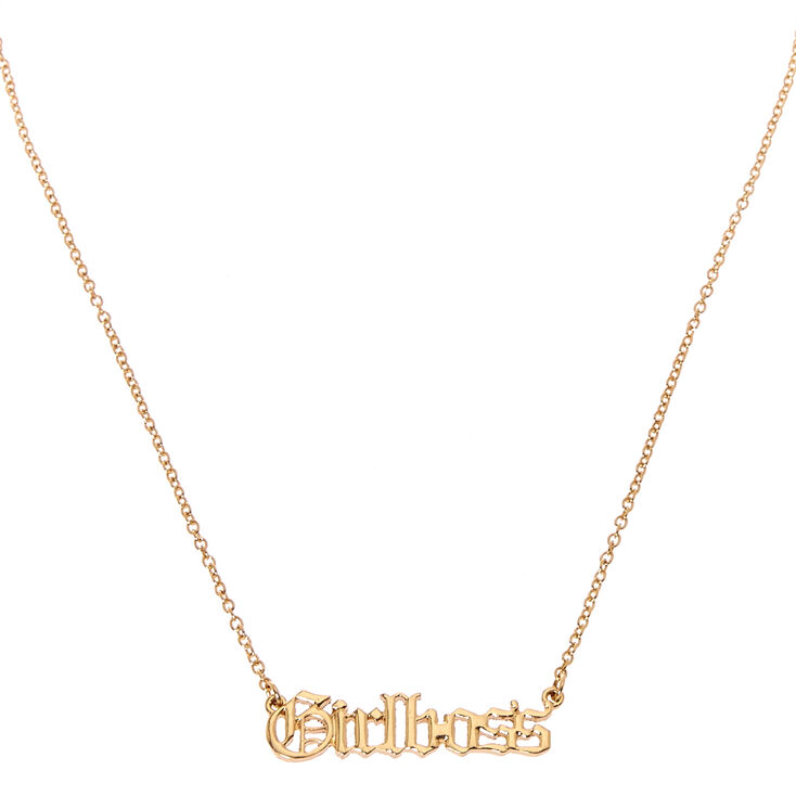 Girl Boss Necklace,