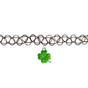 St. Patrick's Day Tattoo Shamrock Choker,