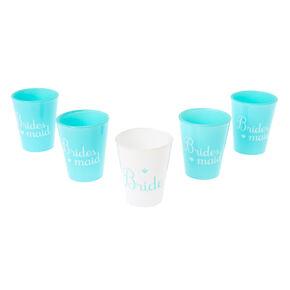 5 Pack Mint Blue Bachelorette Shot Glass Set,