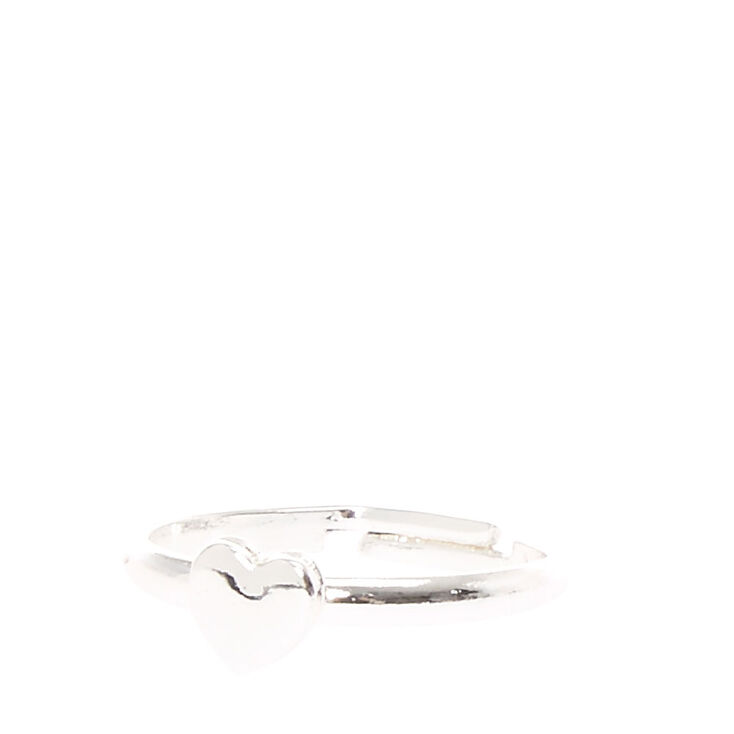 Silver Heart Ring,