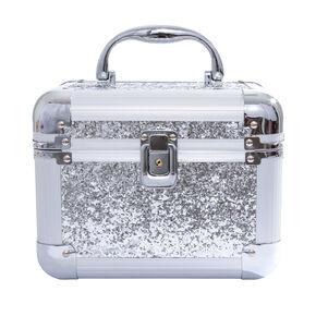 Large Silver Glitter Lock Box,