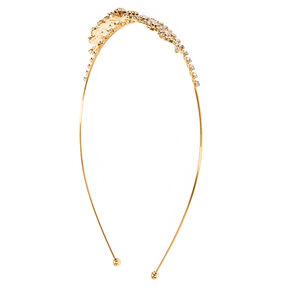 Gold Mini Inverted Tear Drop Tiara,