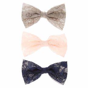 Mini Lace Bow Hair Clips,