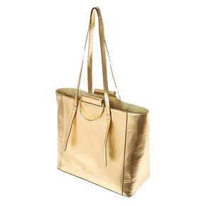 Metallic Gold Tote Bag,