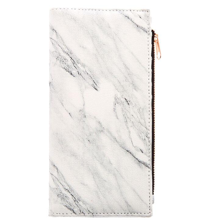 Marble & Rose Gold Slim Clutch Wallet,