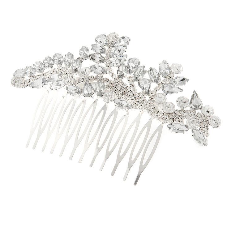 Crystal Marquis Leaves & Rhinestone Vine Hair Comb,