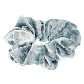 Teal Velvet Scrunchie,