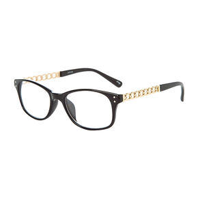 Black Rectangle Frames with Gold Chain Arms,