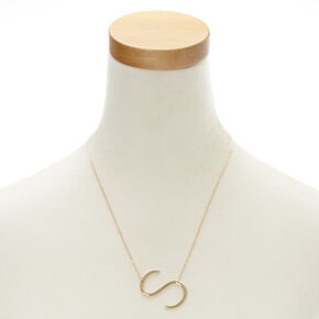 "XL ""S"" Initial Pendant Necklace,"