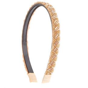 Rose Gold Beaded Headband,