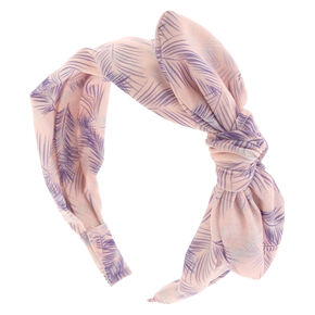 Spring Leaf Pale Pink Headband,