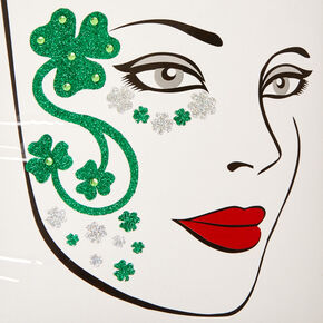 St. Patrick's Day Shamrock Face Stickers,