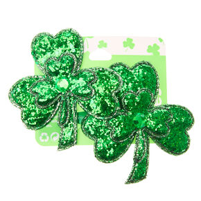 2 Pack St. Patrick's Day Shamrock Snap Hair Clips,