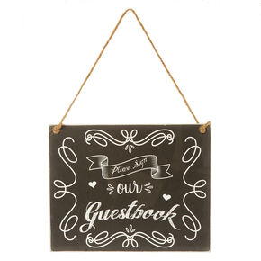 Vintage Style Hanging Wedding Guestbook Sign,