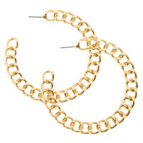 Chain Link Half Hoop Earrings,