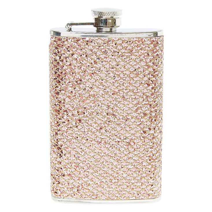 Rose Gold Sequin Flask,