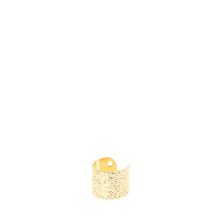 Hammered Gold Ear Cuff,