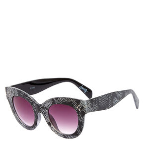 Retro Silver Sparkling Snake Sunglasses,
