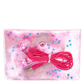 Pink Earbuds & Carrying Pouch,
