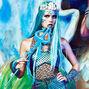 Holographic Mermaid Fingerless Gloves,