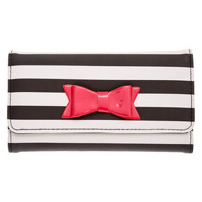 Black and White Striped Phone Wallet,