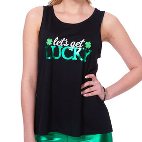 St. Patricks's Day Let's Get Lucky Tank Top,