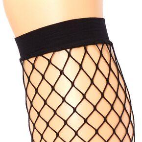 Black Fishnet Thigh-Highs,