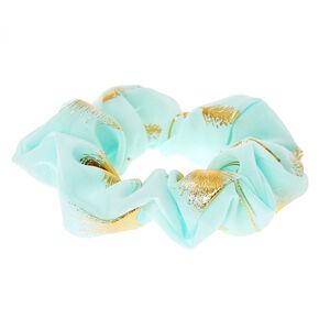 Gold Leaf Mint Hair Scrunchie,
