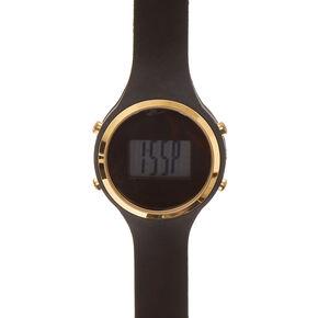 Black Silicone Digital Watch,