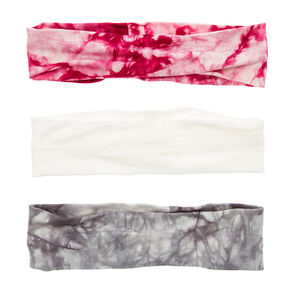 Ivory, Gray & Pink Tie Dye Head wraps,