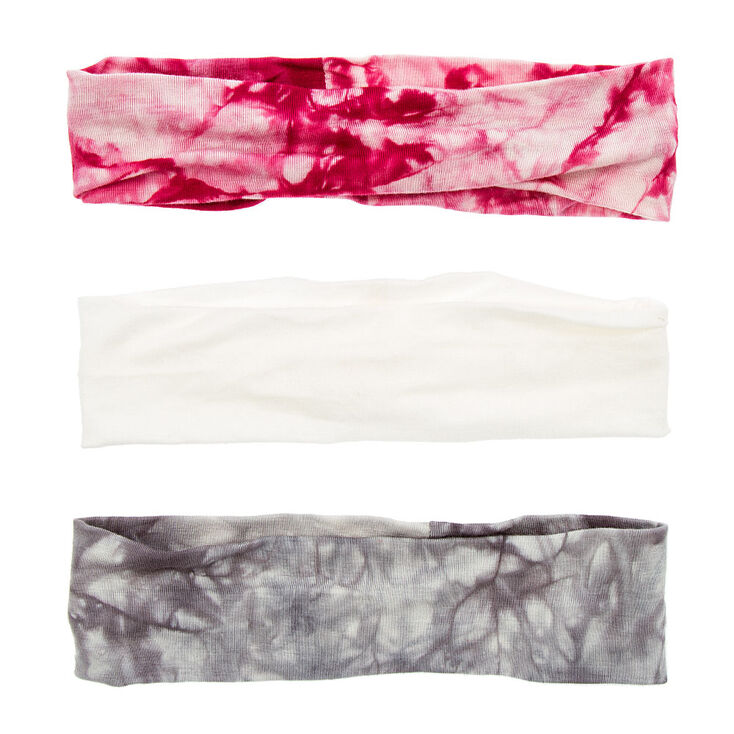 Ivory, Gray & Pink Tie Dye Head wraps,