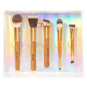5 Pc Natural Cosmetic Brush Set,