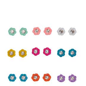 Multi-color Mini Flower Stud Earrings,