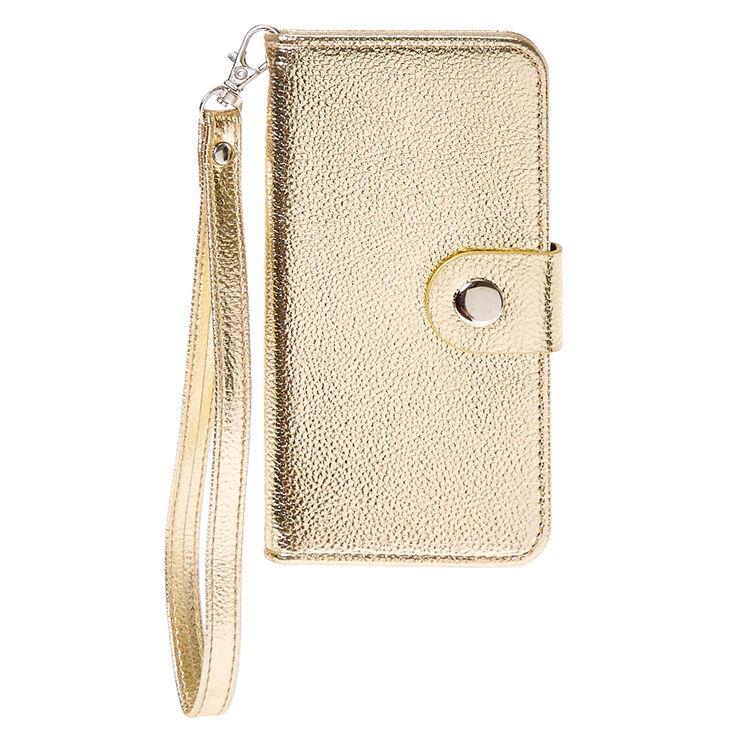Metallic Gold Wristlet Phone Case,