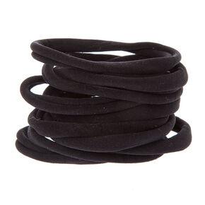 Black Rolled Ponytail Holders,