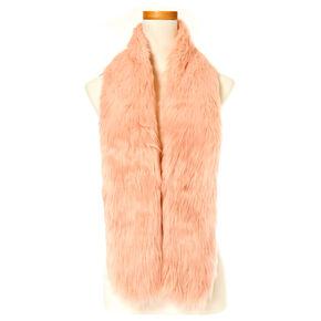 Blush Pink Faux Fur Stole,