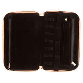 Rose Gold Travel Jewelry Case,