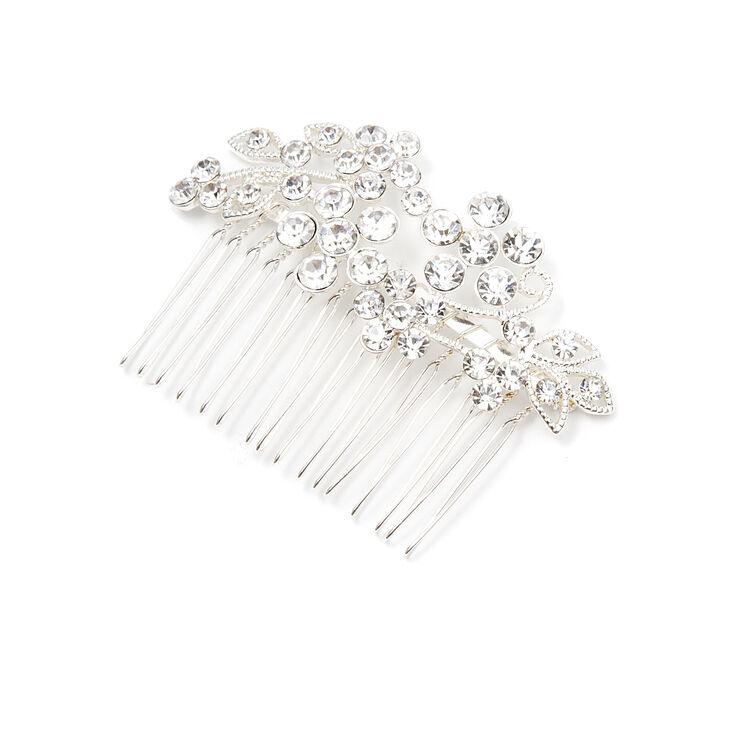 Crystal Flowers & Leaves Hair Comb,