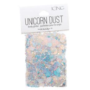 Holographic Silver Unicorn Dust Glitter Pouch,