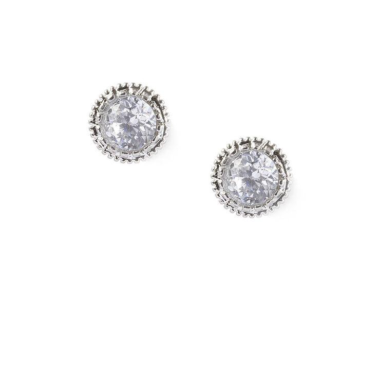 5MM Round Cubic Zirconia Vintage Set Stud Earrings,