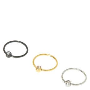 Sterling Silver  Metal Earring Set,