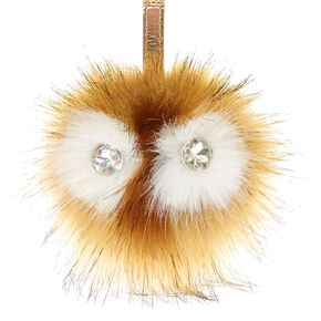 Natural Faux Fur Critter Handbag Charm,