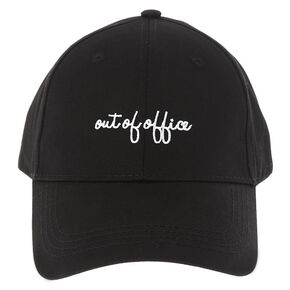 Out of Office Black Baseball Cap,