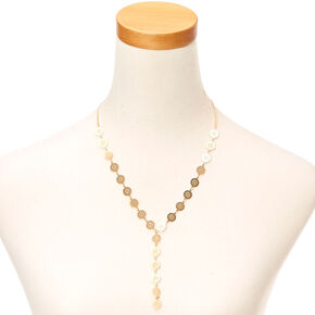 Gold Filigree Drop Necklace,