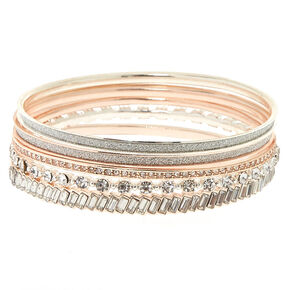 Mixed Metal Glamorous Bangle Stack,