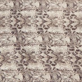 Black & White Knit Snake Print Scarf,